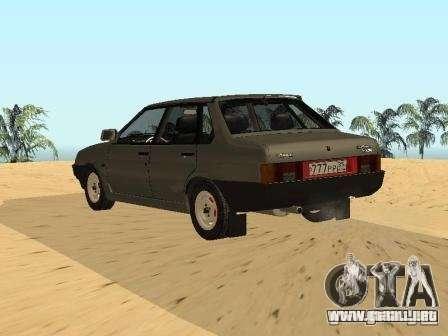 VAZ 21099 verano para GTA San Andreas left
