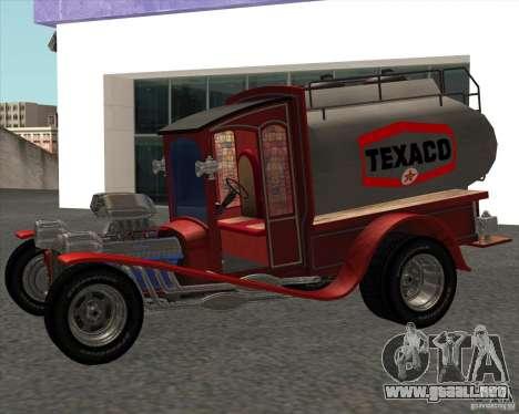 Ford model T 1923 Ice cream truck para GTA San Andreas vista posterior izquierda