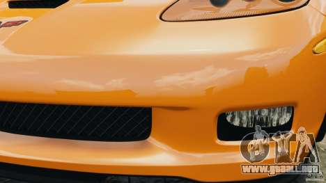 Chevrolet Corvette C6 Grand Sport 2010 para GTA 4 vista desde abajo