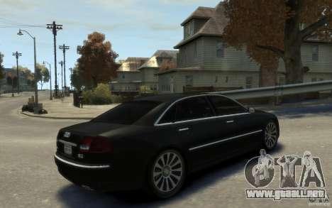 Audi A8 L 6.0 Quattro (Transporter 3) para GTA 4 vista interior