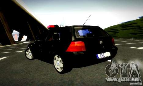 Volkswagen Golf Police para GTA San Andreas left