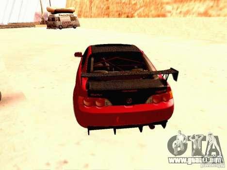 Acura RSX Drift para GTA San Andreas vista posterior izquierda