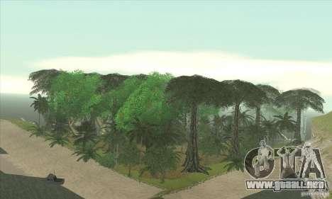 Isla tropical para GTA San Andreas sucesivamente de pantalla
