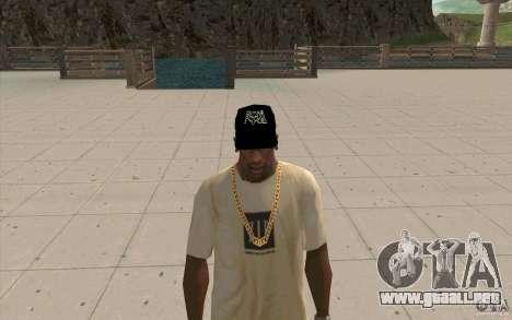 Gorra fox para GTA San Andreas segunda pantalla