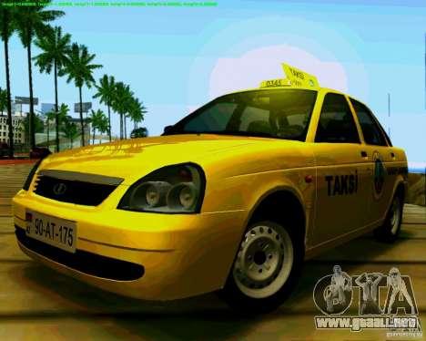 2170 LADA Priora Baki taksi para GTA San Andreas