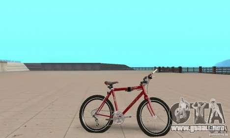 Chongs Mountain Bike para GTA San Andreas vista posterior izquierda