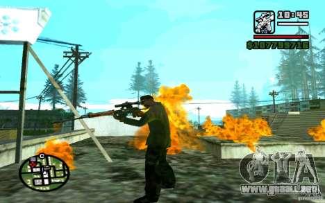Dragunov sniper rifle v 1.0 para GTA San Andreas sucesivamente de pantalla