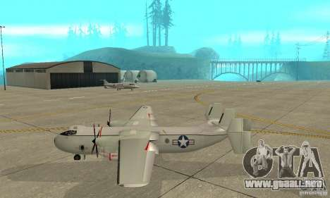 C-2 Greyhound para GTA San Andreas left