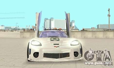 Chevrolet Corvette C6 sargento de policía Cruz N para GTA San Andreas vista hacia atrás