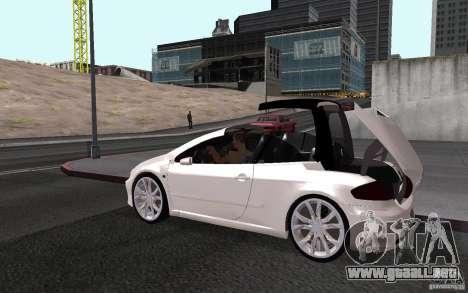 Peugeot 307CC BMS para visión interna GTA San Andreas