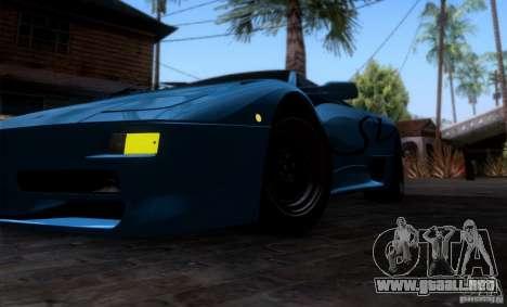 Lamborghini Diablo SV V1.0 para GTA San Andreas interior