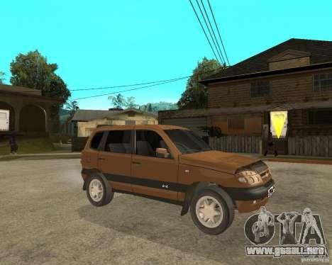 CHEVROLET NIVA Version 2.0 para la visión correcta GTA San Andreas