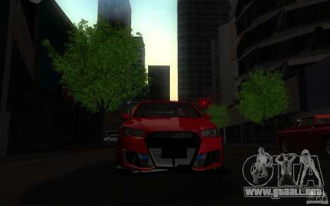 Mitsubishi Lancer EVO X drift Tune para la visión correcta GTA San Andreas