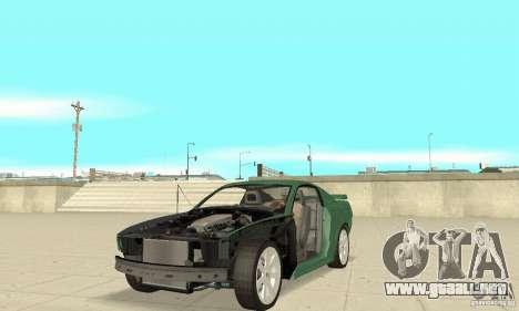 Saleen S281 v2 para la vista superior GTA San Andreas