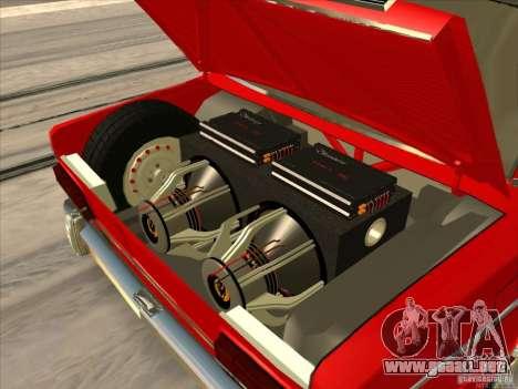 Estilo Resto VAZ 2103 para GTA San Andreas vista hacia atrás