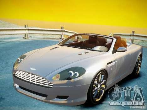 Aston Martin DB9 Volante v2.0 para GTA 4 Vista posterior izquierda