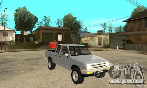 Toyota Hilux CD para GTA San Andreas vista hacia atrás