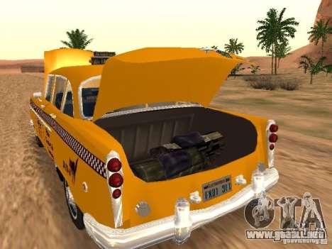 Checker Marathon Yellow CAB para GTA San Andreas vista posterior izquierda