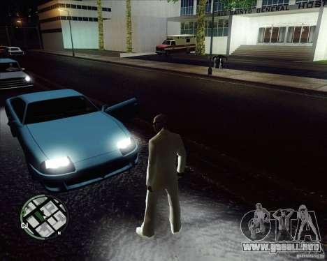 Traje blanco para GTA San Andreas sucesivamente de pantalla