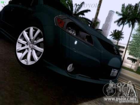 Suzuki SX4 Sportback 2011 para la vista superior GTA San Andreas
