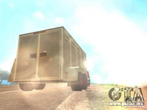 Trailer de la Chevrolet Silverado 2012 para GTA San Andreas vista hacia atrás