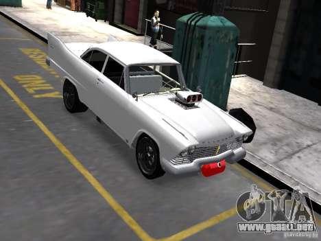 Plymouth Savoy 57 para GTA 4 ruedas