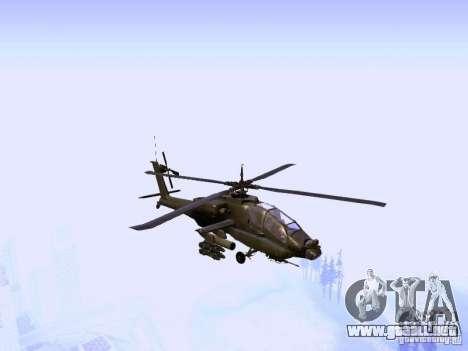 HD Hunter para GTA San Andreas vista hacia atrás