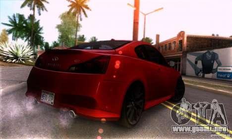 Infiniti IPL G Coupe 2012 para la visión correcta GTA San Andreas