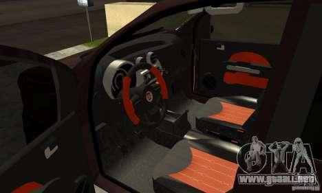 Fiat Novo Uno Sporting para GTA San Andreas vista hacia atrás