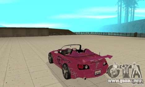 Honda S2000 The Fast and Furious para la visión correcta GTA San Andreas