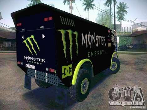 KAMAZ maestro 4911 Monster Energy para la visión correcta GTA San Andreas