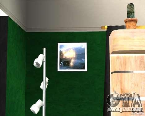 New Interior of CJs House para GTA San Andreas tercera pantalla