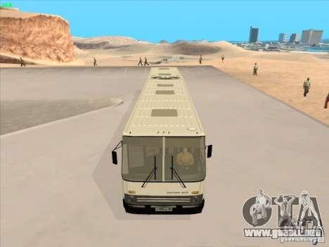 IKARUS 280.03 para GTA San Andreas vista hacia atrás