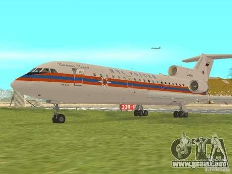 Yak-42 EMERCOM de Rusia para GTA San Andreas left