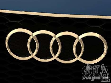 Audi TT RS para la vista superior GTA San Andreas