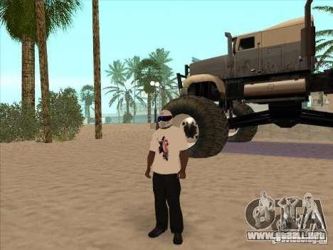 Una camiseta con una foto de Michael Jackson para GTA San Andreas sucesivamente de pantalla