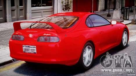 Toyota Supra MKIV 1995 v2.0 Final para GTA 4 visión correcta