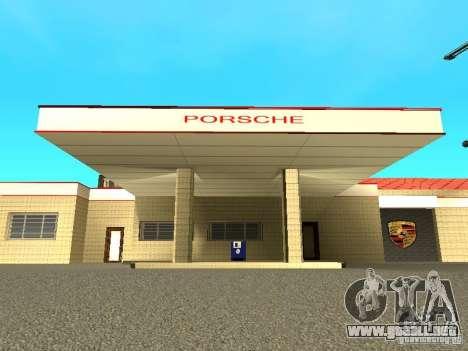 Garaje de Porsche para GTA San Andreas segunda pantalla