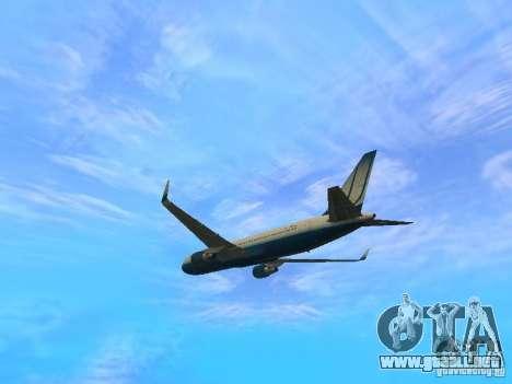 Boeing 767-300 United Airlines New Livery para GTA San Andreas vista hacia atrás