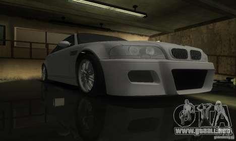 BMW M3 Tuneable para GTA San Andreas vista hacia atrás
