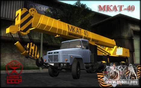 MKAT-40 basado en Kraz-250 para GTA San Andreas vista posterior izquierda