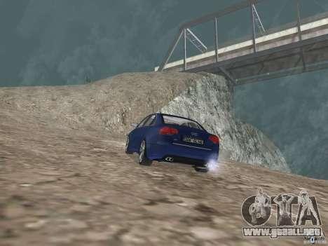 Audi S6 para GTA San Andreas vista posterior izquierda