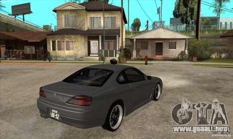Nissan Silvia S15 JDM para la visión correcta GTA San Andreas