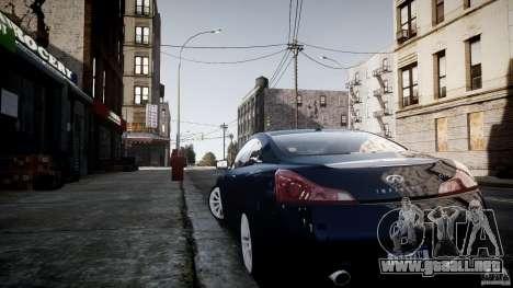 Infiniti G37 Coupe Sport para GTA 4 visión correcta