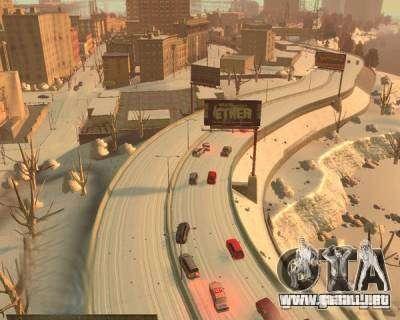 Lluvia helada para GTA 4 adelante de pantalla