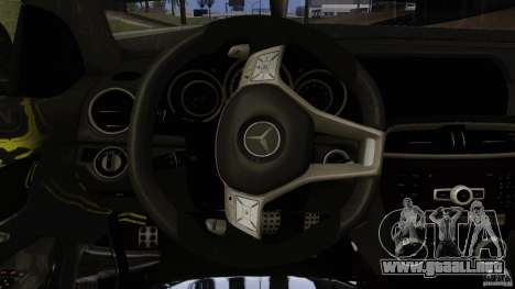 Mercedes Benz C63 AMG Black Series 2012 para vista inferior GTA San Andreas