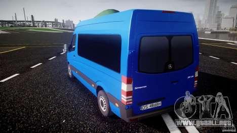 Mercedes-Benz ASM Sprinter Ambulance para GTA 4 Vista posterior izquierda