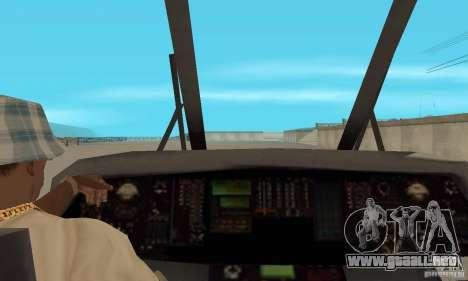 HH-60 Jayhawk USCG para GTA San Andreas vista hacia atrás