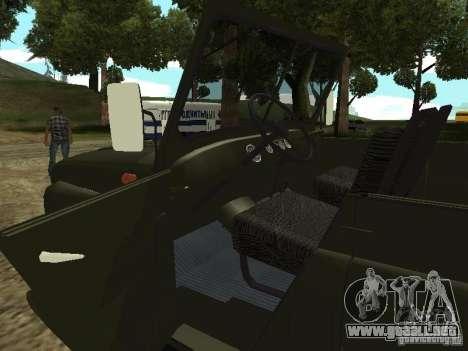 UAZ 469 para GTA San Andreas vista hacia atrás