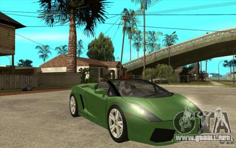Lamborghini Gallardo Spyder para GTA San Andreas vista hacia atrás